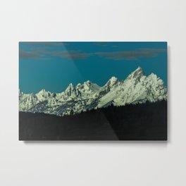 Teton Range, Grand Teton National Park Metal Print