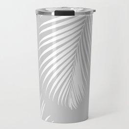 Gray Tropical Pattern Travel Mug