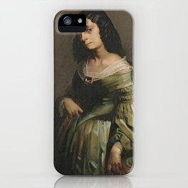 Mademoiselle Henriette Ferre by Jean-François Millet iPhone Case