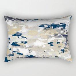 Nigel - Abstract art painting brushstrokes free spirt dorm college masculine feminine art print cali Rectangular Pillow