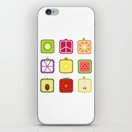 Squared Fruits iPhone Skin