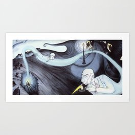 The Mortician's spirit last round Art Print