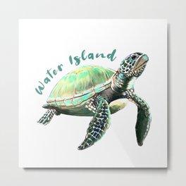 Water Island Turtle Metal Print