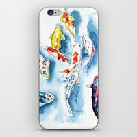 koi iPhone & iPod Skins featuring Koi  by Bridget Davidson