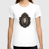 edgar allan poe T-shirts featuring Edgar Allan Poe by Designs By Misty Blue (Misty Lemons)