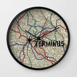 Terminus Map Wall Clock