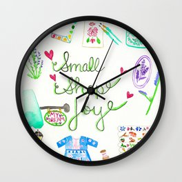Small Shop Joy Wall Clock