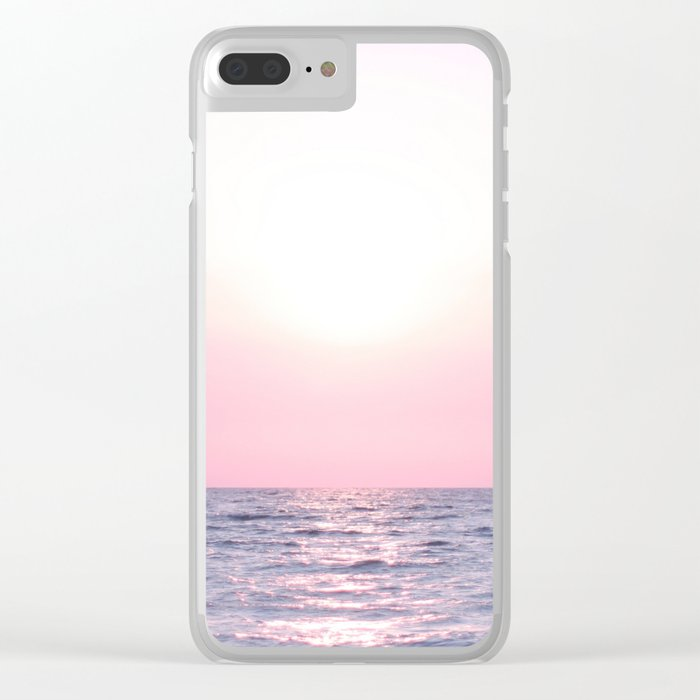 Ocean waves #pink Clear iPhone Case