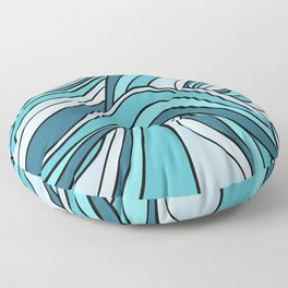 Ocean Waves Of Chaos Floor Pillow