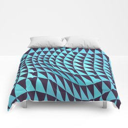 Abstract Seamless Triangles and Waves Pattern Comforters