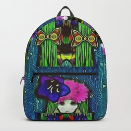Fae mermaids live in the soft warm sea of love and pop culture Backpack
