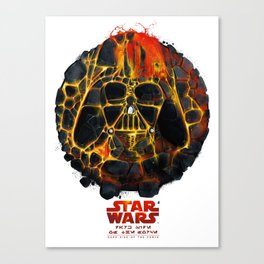 Darth Vader Eruption Canvas Print