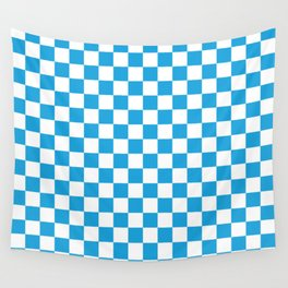 Oktoberfest Bavarian Large Blue and White Checkerboard Wall Tapestry
