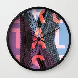 Brutalist Wall Clock