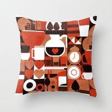 Coffee Story Throw Pillow