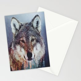 Wolf Double exposure Stationery Cards