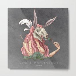 Long live the dead - Rabbit Metal Print