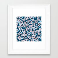 cherry blossom Framed Art Prints featuring Cherry Blossom by Alannah Brid