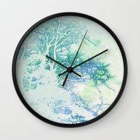 oriental Wall Clocks featuring Oriental by Aniko Gajdocsi