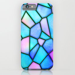 pastel stained glass iPhone Case