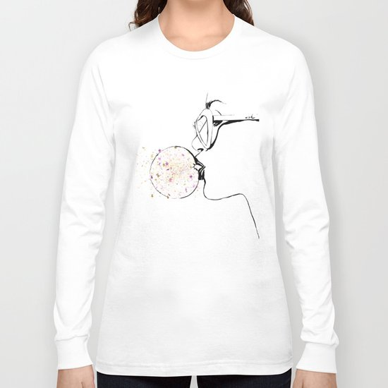 Glitter Bubble Gum Long Sleeve T-shirt