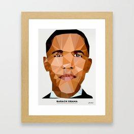Obama Poly Framed Art Print