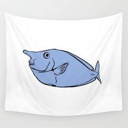 Unicorn fish illustration Wall Tapestry