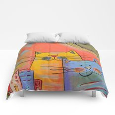 City cats Comforters