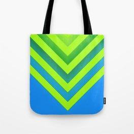 Sky & Lime Chevron Tote Bag