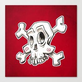 Skull comic Canvas Print