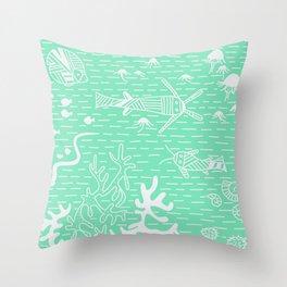 Carnival Glass Sea Life Stripes No. 2 Throw Pillow