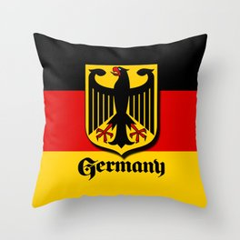 Germany Ueber Alles Country Symbol Throw Pillow