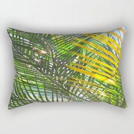 Golden Palm Rectangular Pillow