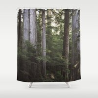 giants Shower Curtains featuring Among Giants by Frances Dierken