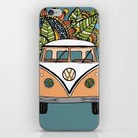 vw bus iPhone & iPod Skins featuring VW bus by Woosah