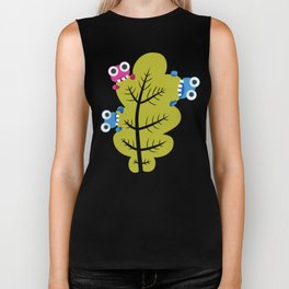 Bugs Eat Green Leaf Biker Tank