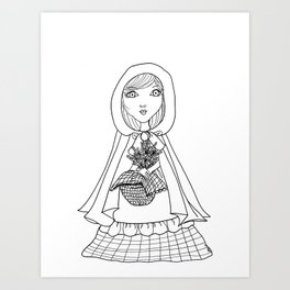 Little Red Riding Hood Visits Grandma Art Print