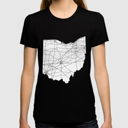 Ohio White Map T-shirt