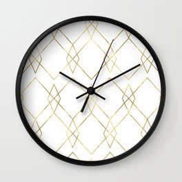 Gold Geometric Wall Clock