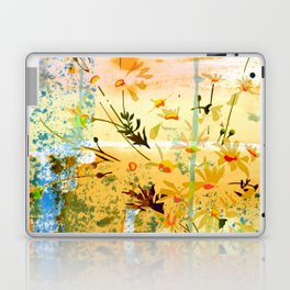 flowers at the beach Laptop & iPad Skin
