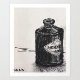 Gin and Charcoal Art Print