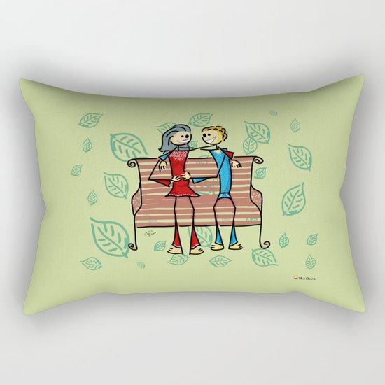Life and living Rectangular Pillow