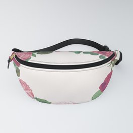 Pink Floral Wreath Fanny Pack