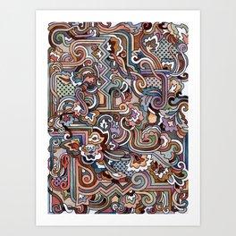 Rayas y rulos Art Print