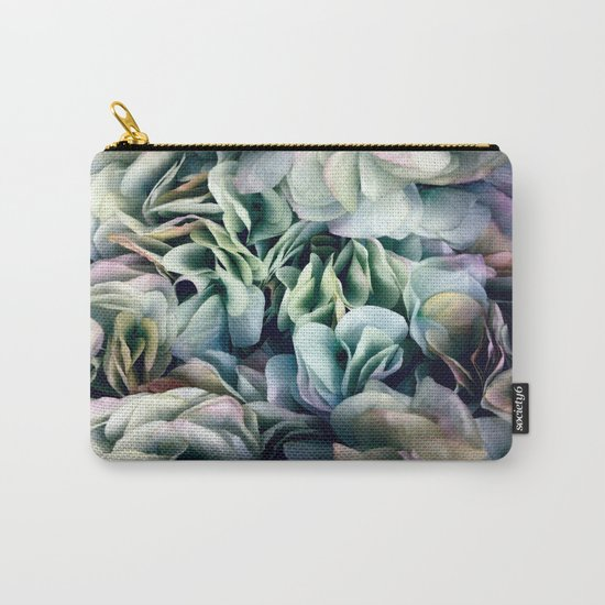 Soft Subtle Petal Ruffles Abstract  Carry-All Pouch