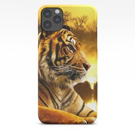 Tiger and Sunset iPhone Case