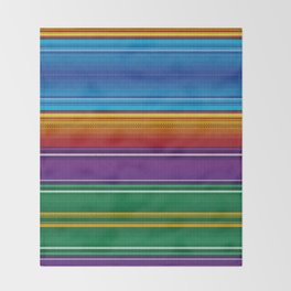 Mexican serape #3 Throw Blanket