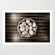 Bowl of apples Art Print