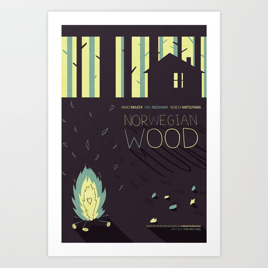 Norwegian Wood Art Print