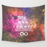 infinite Wall Tapestries featuring Infinite by MJ Mor